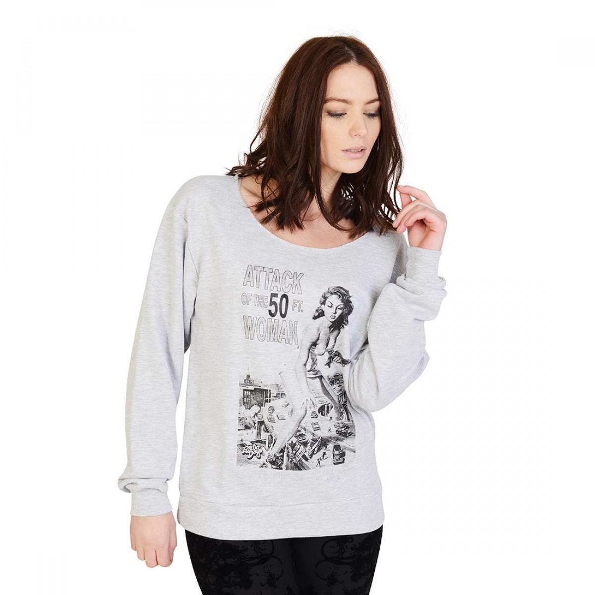 Cako attack of the 50ft woman sweatshirt farranoir for Attack of the 50 foot woman t shirt