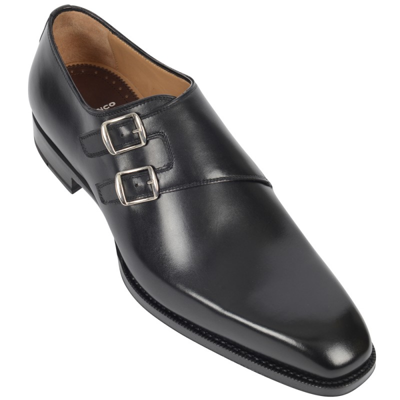 DI BIANCO Leather Double Monkstrap