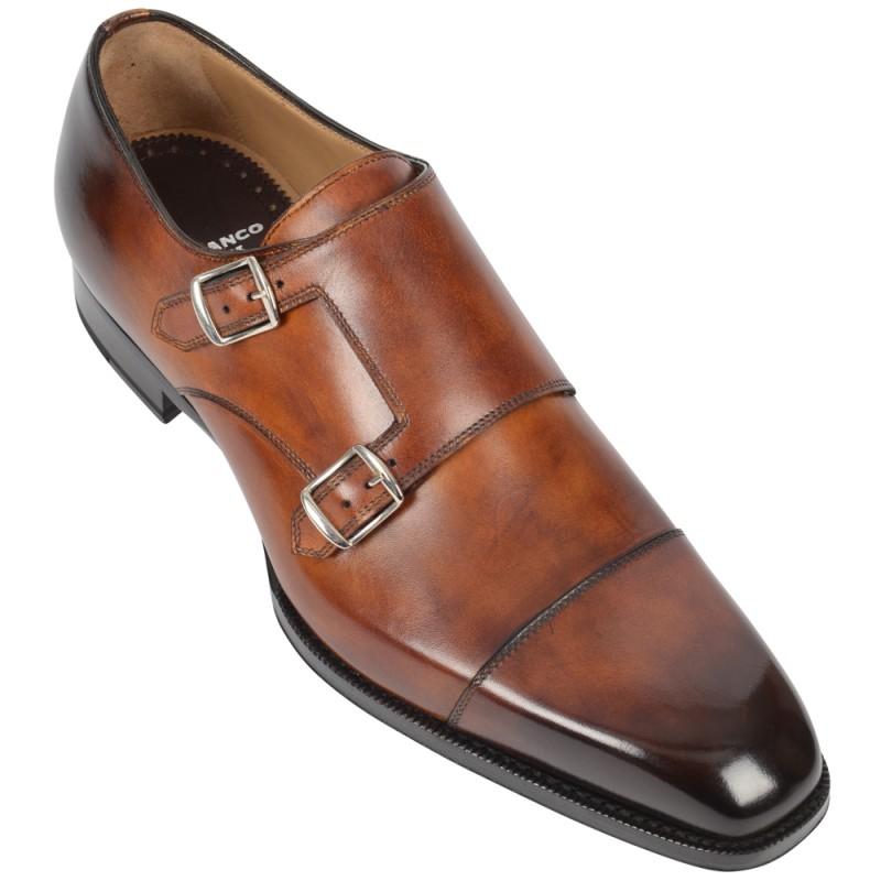 DI BIANCO Leather Double Monkstrap