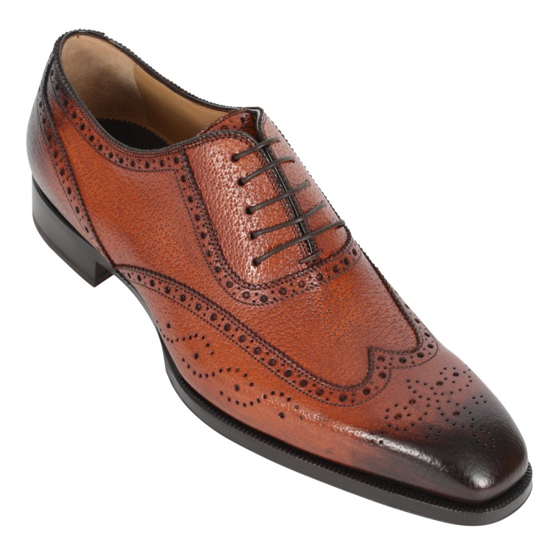 DI BIANCO Leather Wing Tip Brogue