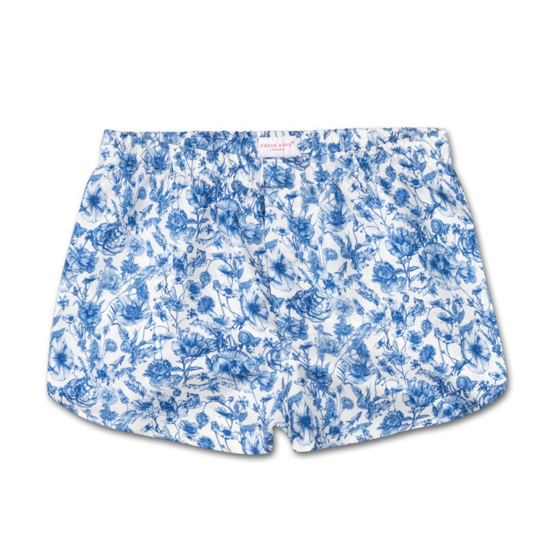 Derek Rose Modern Fit Silk Boxer Shorts
